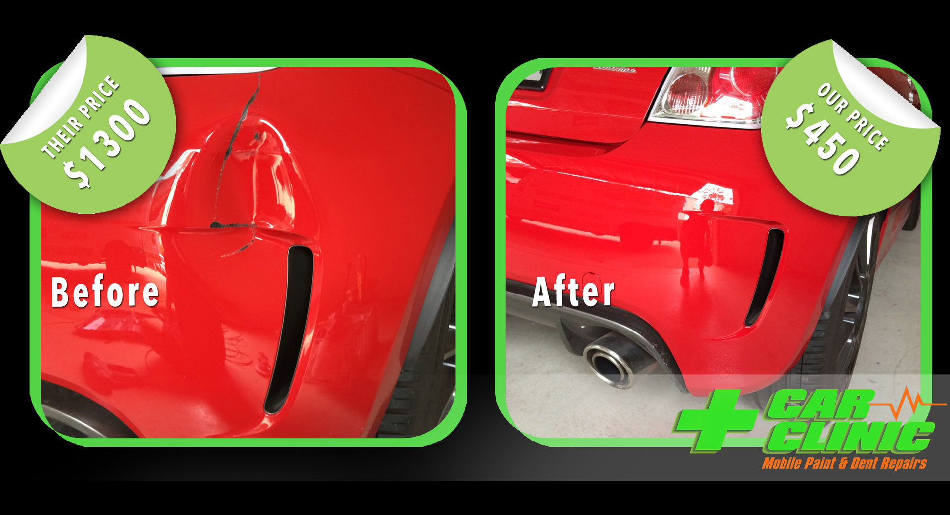 Mobile Paint & Dent Repairs - Brisbane - Before After Image 09